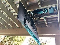 Customer reviews vivo electric motorized flip for Vivo electric motorized flip down pitched roof ceiling tv mount