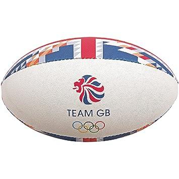 Gilbert Team GB Supporter - Pelota de Rugby, Color, tamaño Talla 5 ...