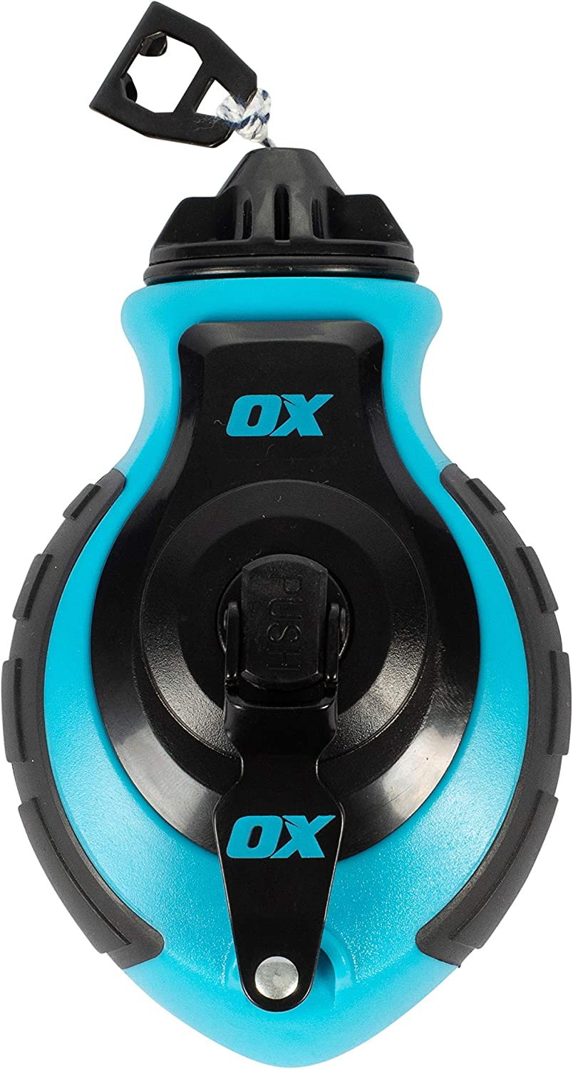 OX TOOLS Pro Chalk Reel /& Chalk Pack 6-to-1 Gear Ratio /& 8 Strand Thick Line