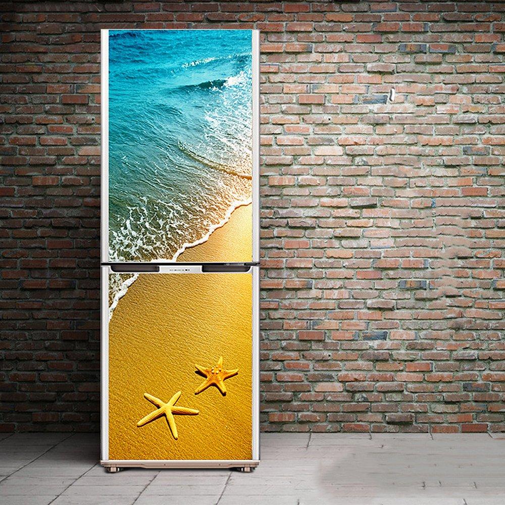 Tür Kühlschrank Aufkleber DIY 3D Schrankabdeckung Selbstklebend Wandtattoo Flur Wandgemälde Schlafzimmer Wohnzimmer, 60*150Cm(23.6''*59'') HHYS