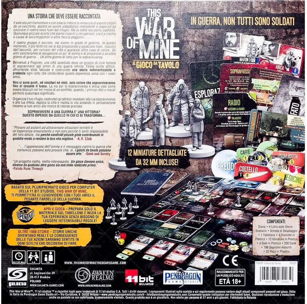 Asmodee-GTAV1003 This War of Mine Giodo de Mesa en Italiano Pendragon Game Studio, Color, 0495: Amazon.es: Juguetes y juegos