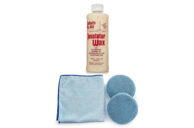 Collinite 845 Insulator Wax Microfiber Towel and Applicator Combo