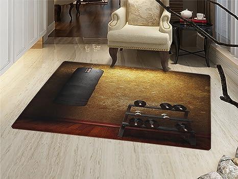 Amazon smallbeefly fitness door mats area rug gym room with