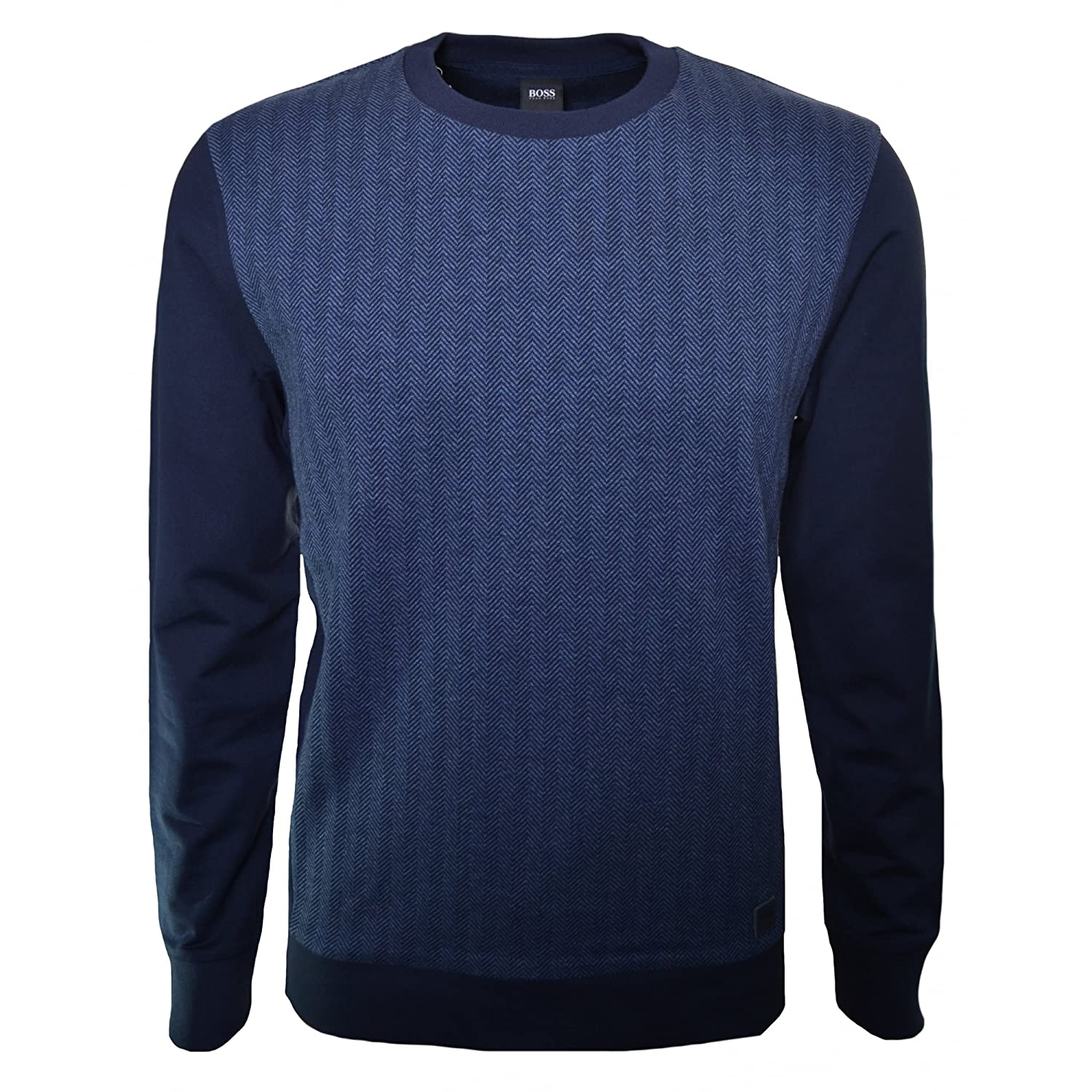 Hugo Boss Men's Hugo Boss Men's Dark Blue Herringbone Sweatshirt
