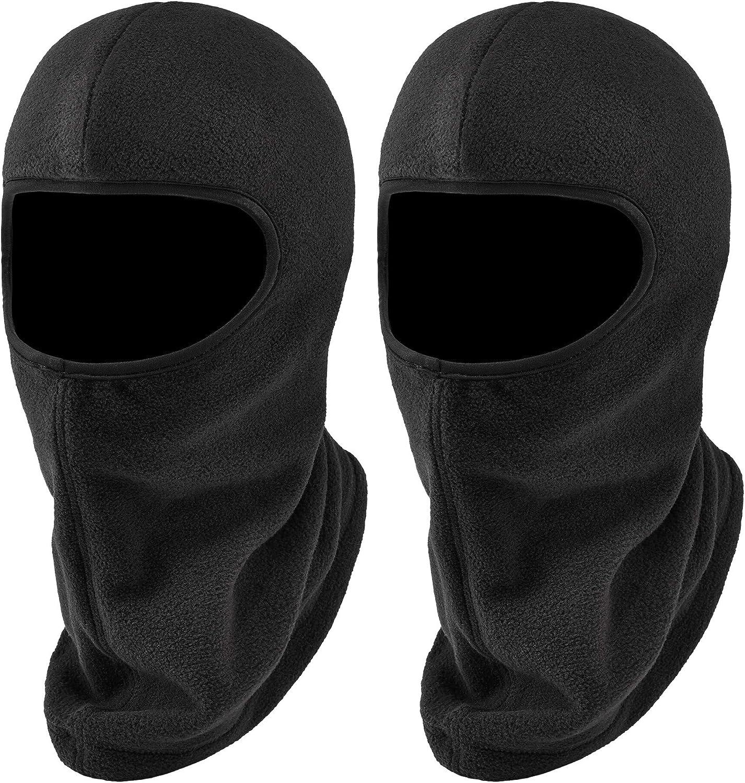 Balaclava, Winter Face Mask, Thermal Black Fleece, Ergodyne N-Ferno 6821, 2-Pack