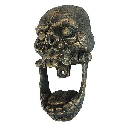 Awesome Design Toscano Knock Jaw Skull Cast Iron Door Knocker