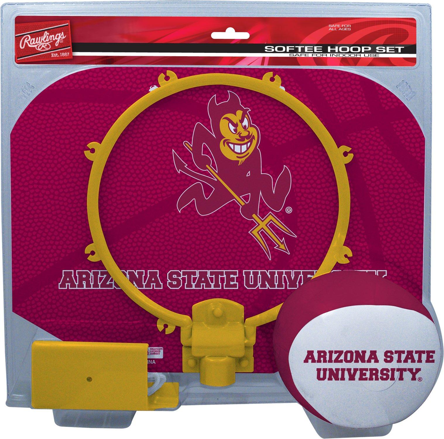NCAA Arizona State Sun Devils Kids Slam Dunk Hoop Set, Maroon, Small