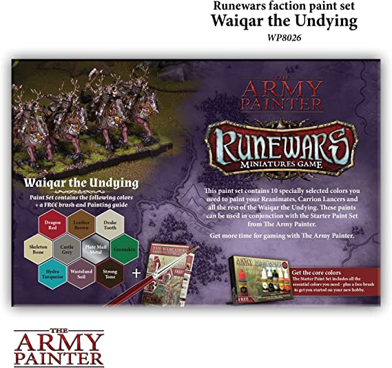 Rune Wars Waiqar Undying Paint Set Army Painter ARM08026
