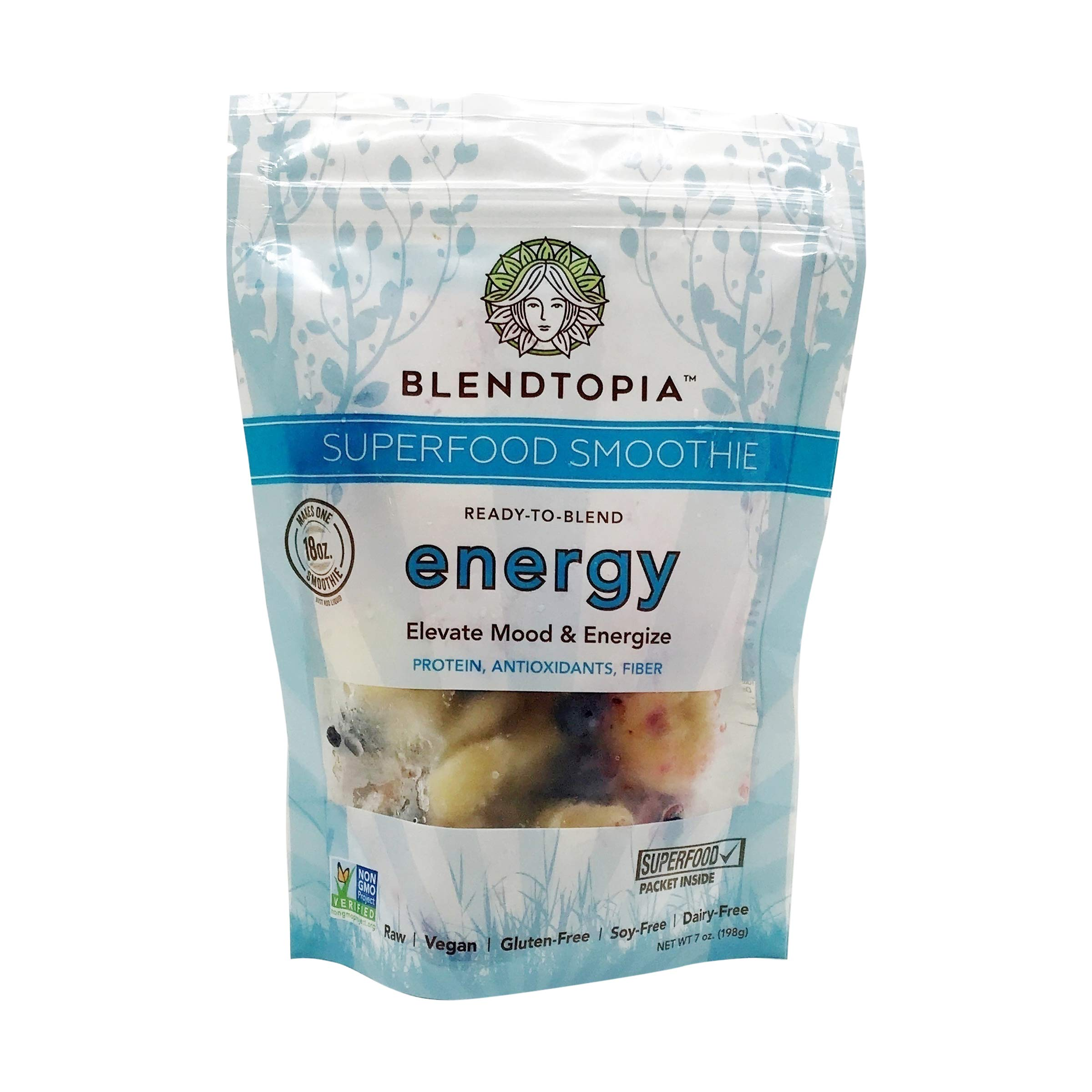 Blendtopia Superfood Smoothie Mix, Energy (4 Pack)