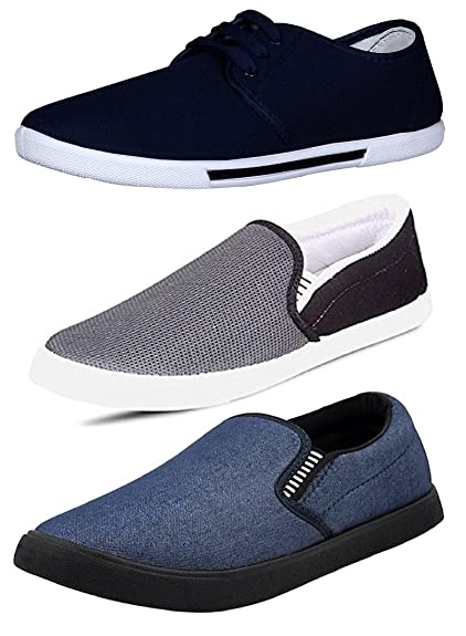 3903dbcbd44 Chevit Men s Casual Loafers and Sneakers Shoes - 10 UK Ind (Combo Pack of