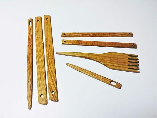 LATCraftSupply 10 Wide x 30 Long 7 Piece Portable Folding Navajo Style Weaving Loom kit Frame Loom