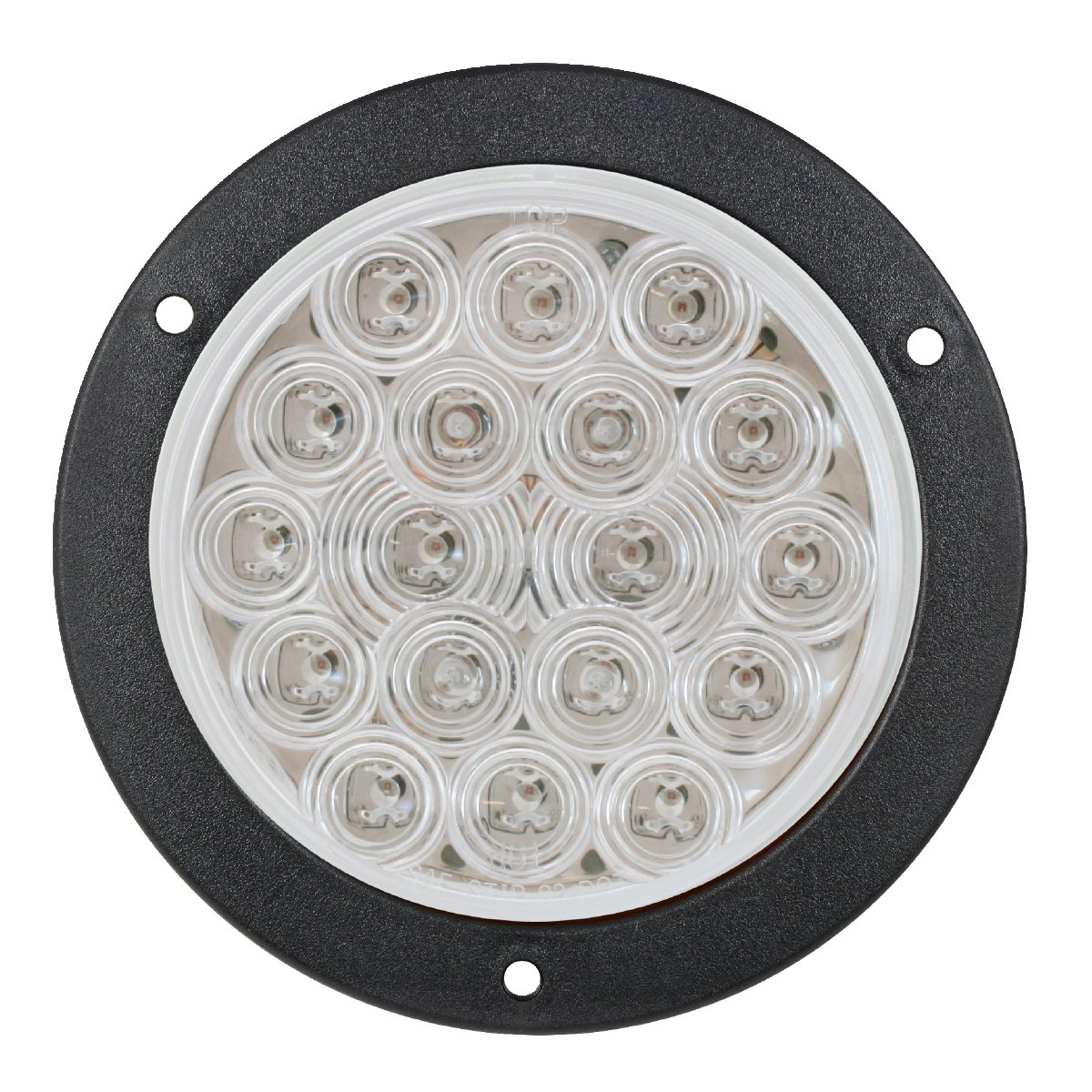 """Grand General 78222BP Pearl 6/"""" White Oval LED Backup Light Includes Light, Grommet and Pigtail for Trucks, Trailers, RVs, Buses, Utility Vehicles"""