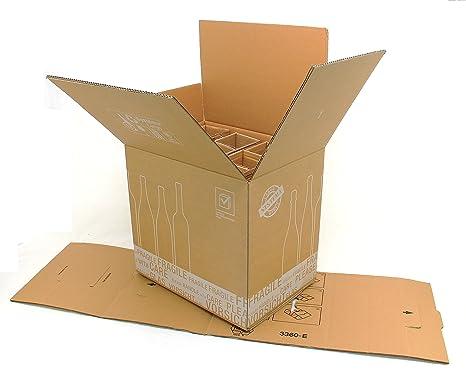 PTZ de cajas de cartón/12 botellas 430 x 305 x 383 mm ...