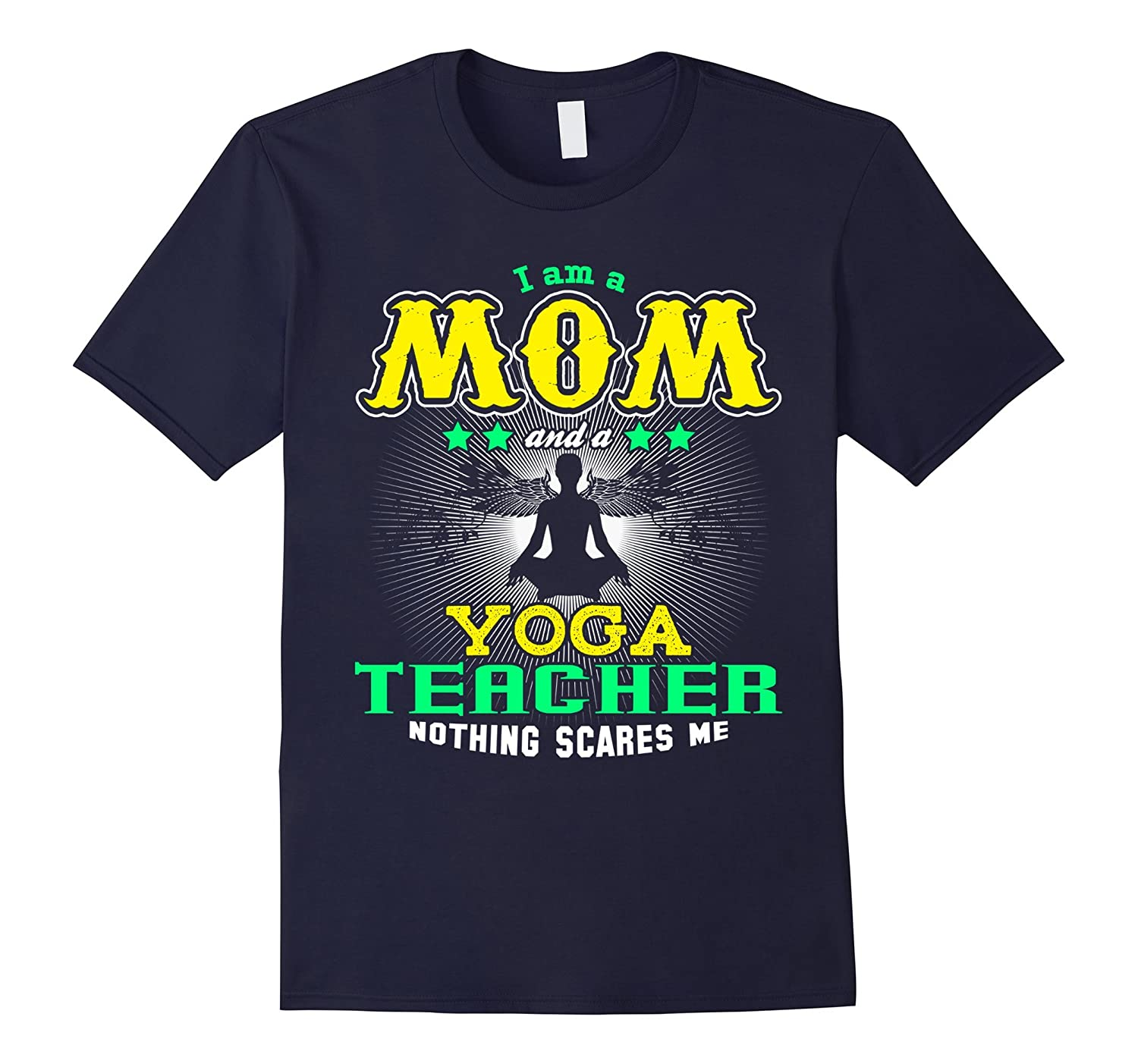A Mom and Yoga Teacher Family Tshirt Mama Mothers Day Gift-TH