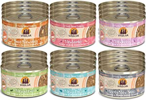 Weruva Classic Cat Stews 6 Flavors Variety Pack, 2.8 Ounce Cans Pack of 24