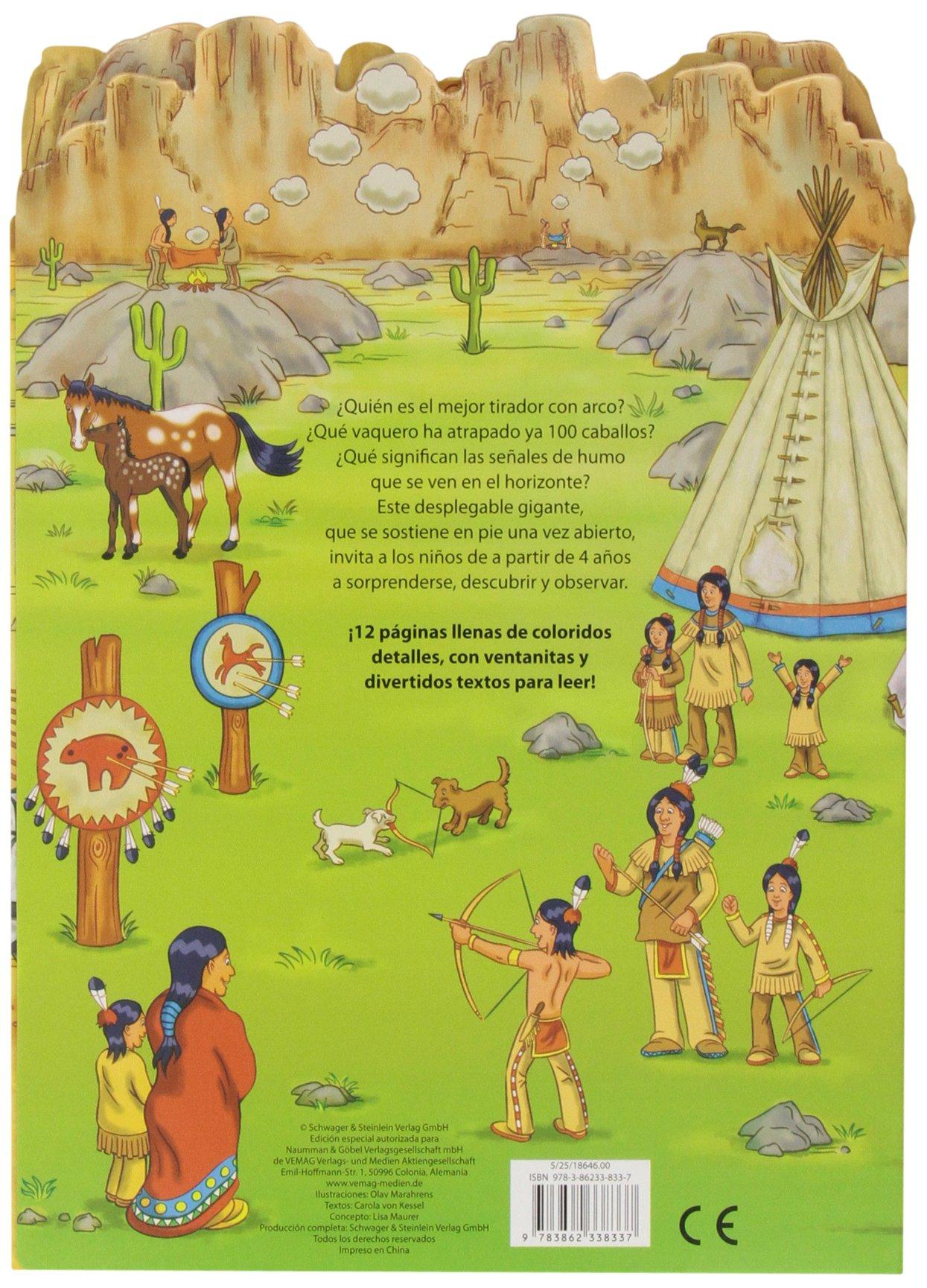 Indios y vaqueros (Desplegable gigante): Amazon.es: Vv.Aa.: Libros