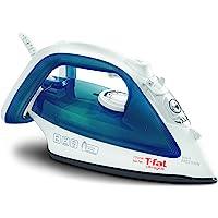T-fal, Blue Steam, Ceramic Flat Iron, Scratch Resistant, Anti-Drip and Auto-Off System, 1700 Watt, 1700-Watt