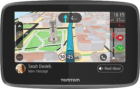 TomTom GO 5200, GPS para coche, 5 pulgadas, llamadas manos libres, Siri y Google Now, actualizaciones via Wi-Fi, traffic para toda la vida mediante tarjeta SIM, mapas del mundo, mensajes de smartphone: