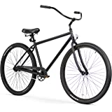 Firmstrong Black Rock Men's Single Speed Beach Cruiser Bicycle, 29-Inch, Matte Black
