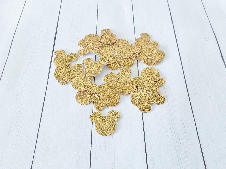 Silver Mickey Mouse Glitter Paper Party Confetti Decoration 1 Inch 300 Piecess