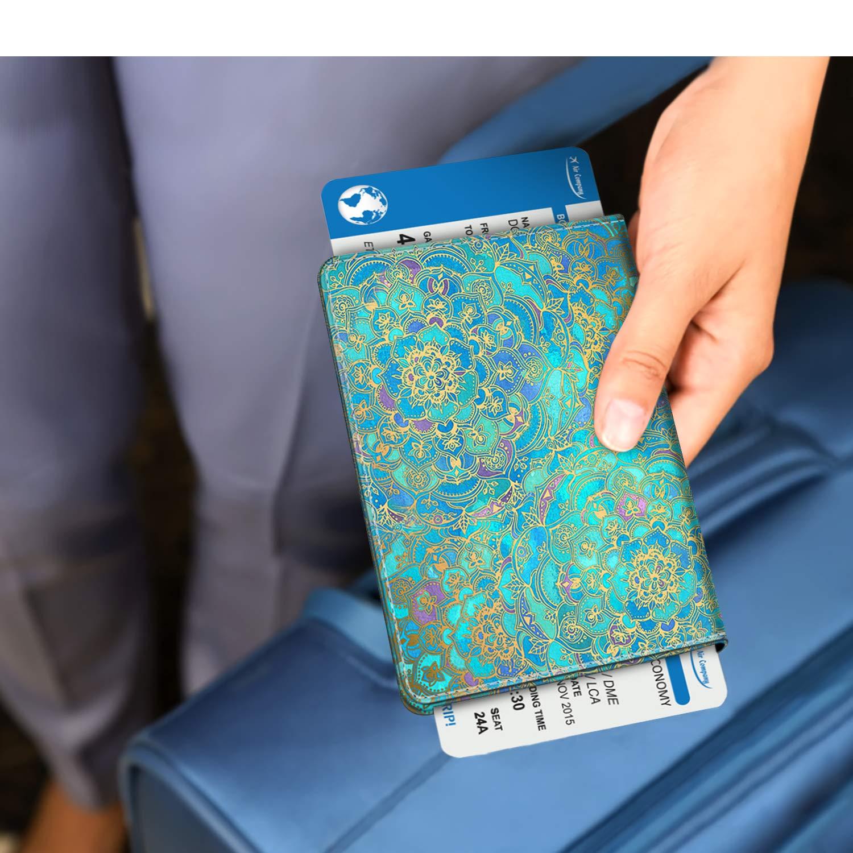 Carte dembarquement Rouge Crocodile Voyage Protecteur Portefeuille Pochette /étui de Protection pour Passeport Carte didentit Fintie Porte-Passeport Housse
