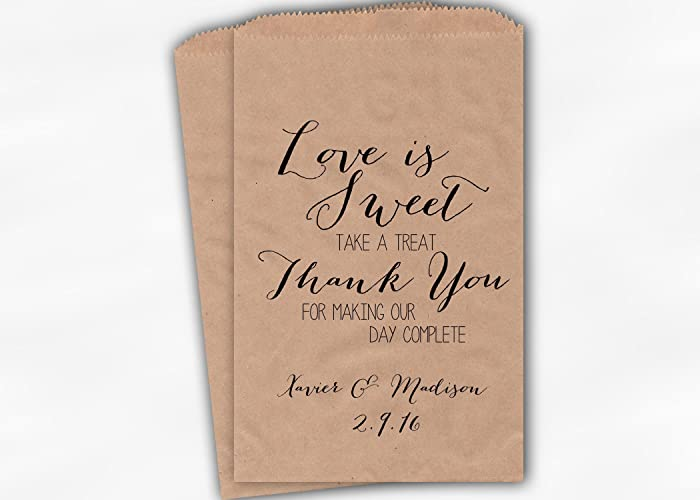 Amazon Love Is Sweet Thank You Wedding Favor Bags For Candy
