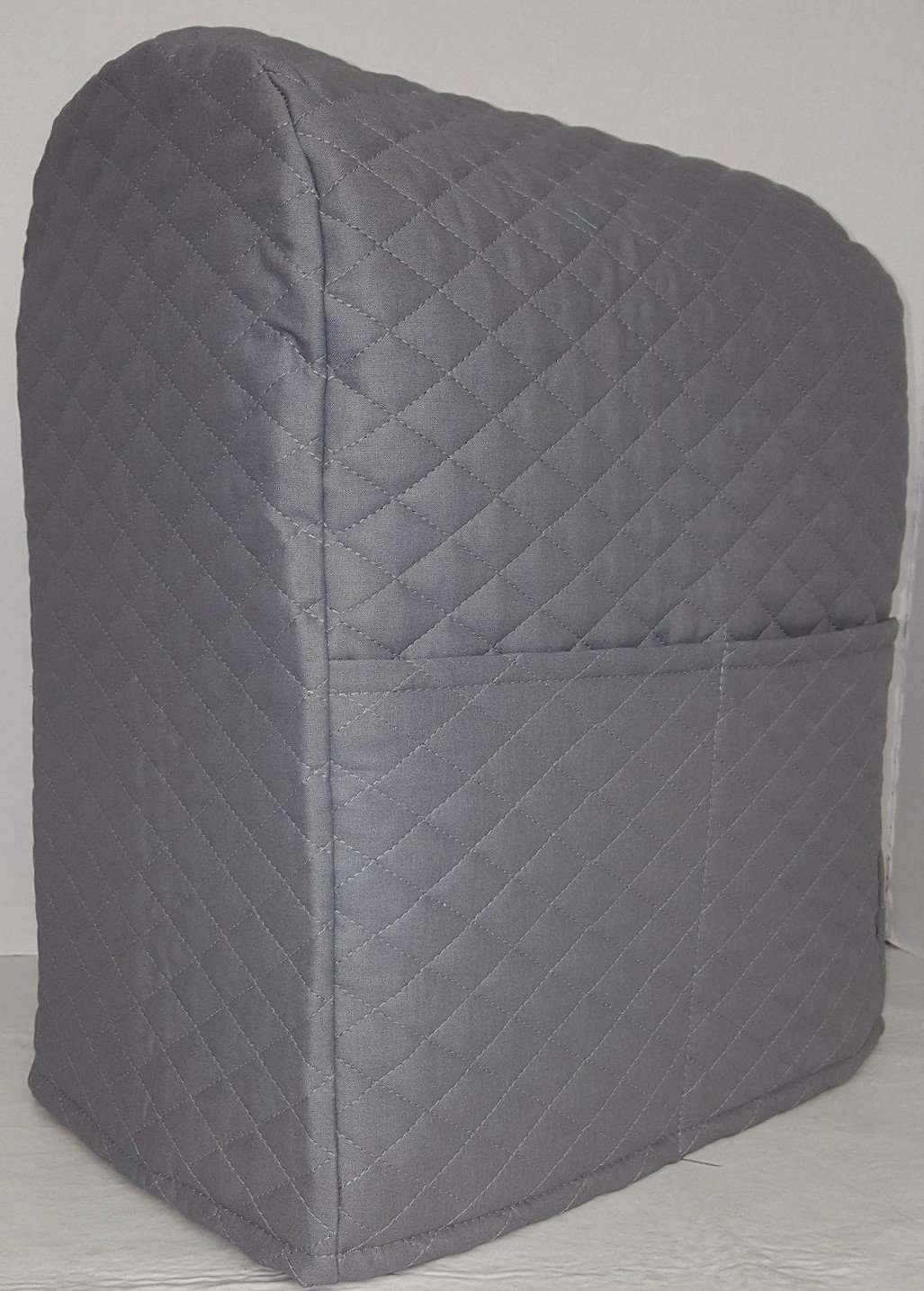 Penny's Needful Things Quilted Cover Compatible with Kitchenaid Stand Mixer (Gray, 4.5,5,6qt Lift Bowl)
