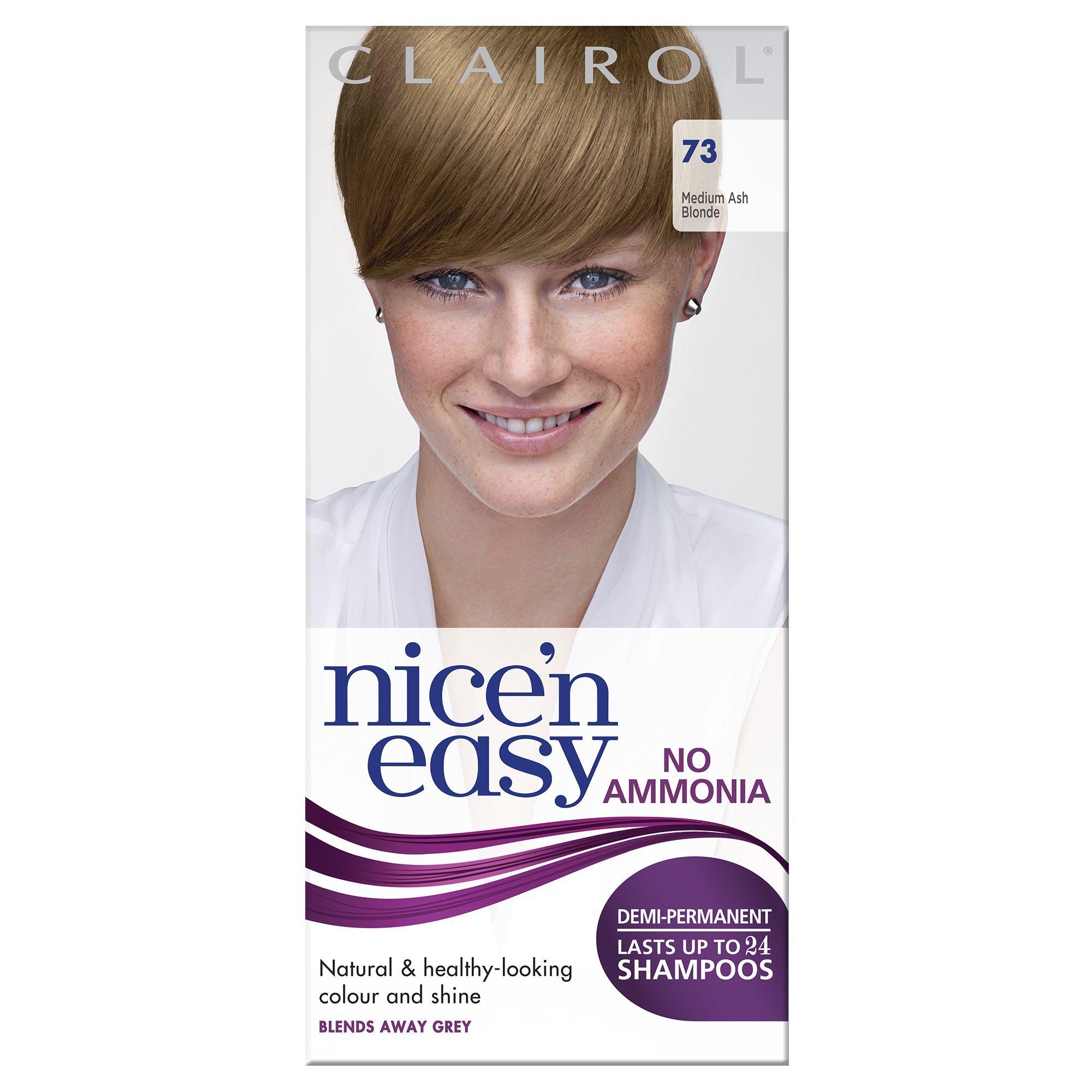 Clairol Nice'n Easy Semi-Permanent Hair Dye No Ammonia 73 Ash Blonde