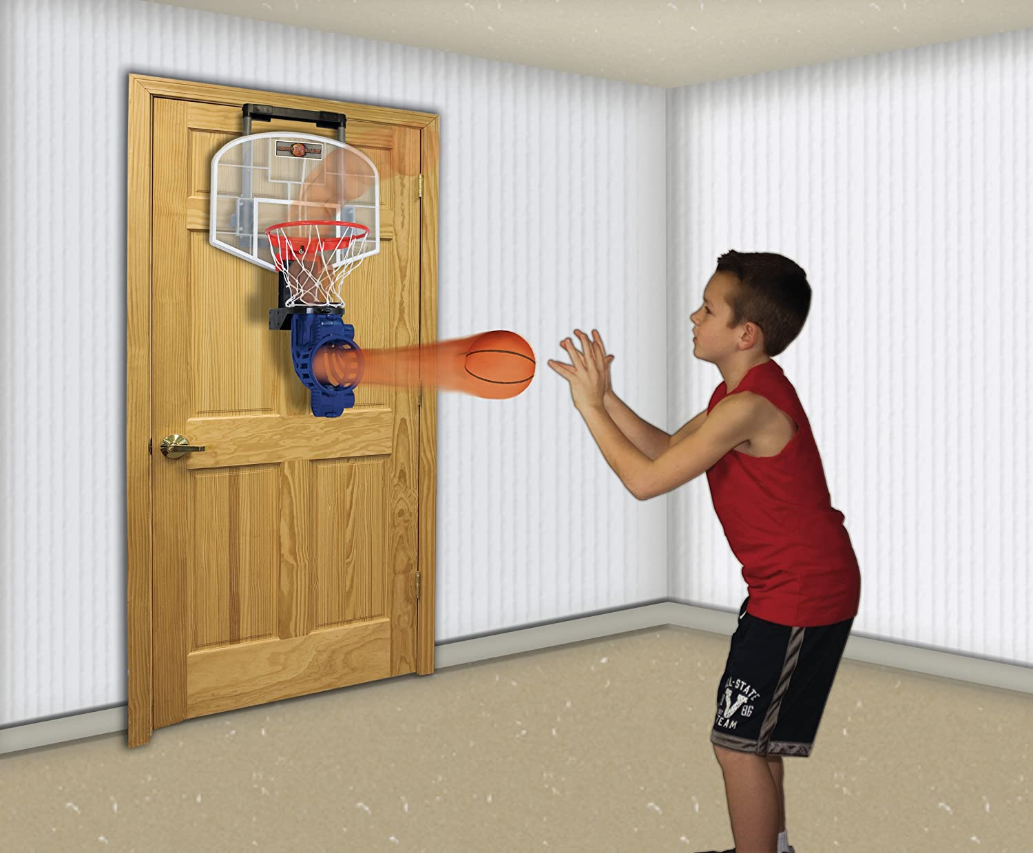 Amazon.com : Franklin Sports Over The Door Mini Basketball Hoop With ...
