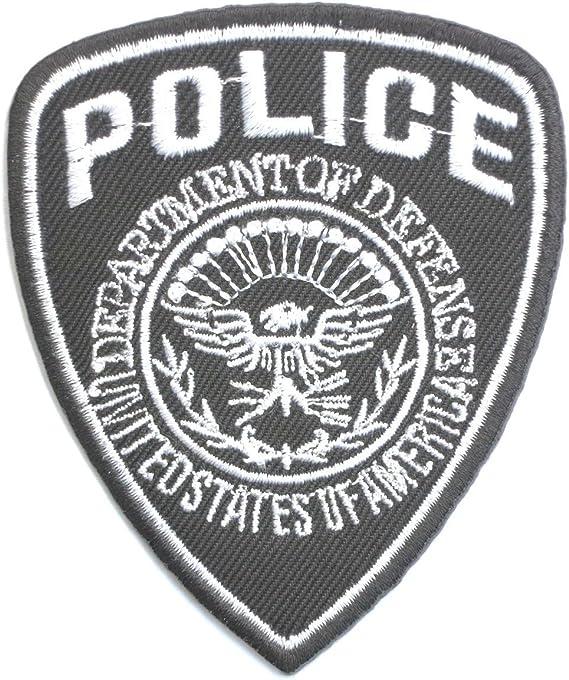Estados Unidos Departamento de Policía Defense Policía mercenario Soldado Militar Iron on Sew On parche bordado de Patch 3.4/8.7 cm: Amazon.es: Coche y moto