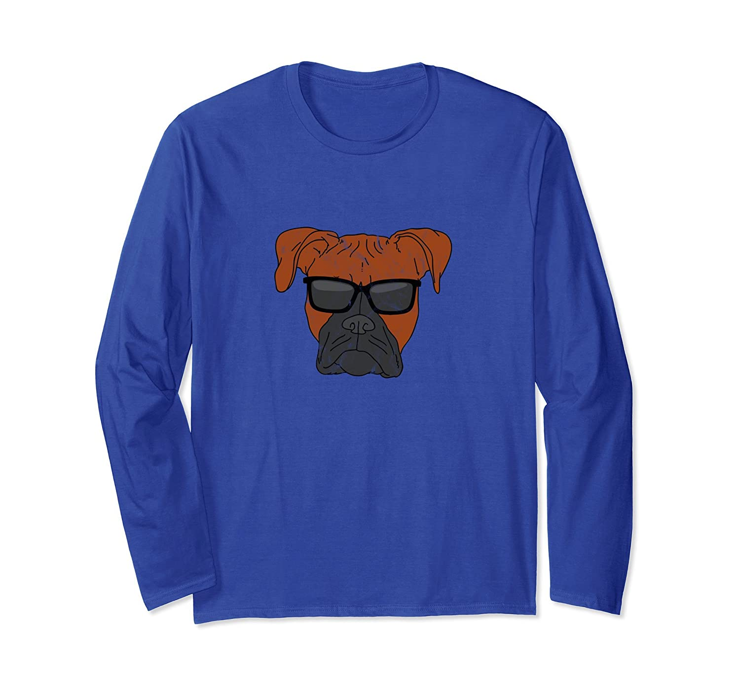 Cool Boxer Long Sleeve T Shirt Men Vintage Dog Owner Gift-alottee gift