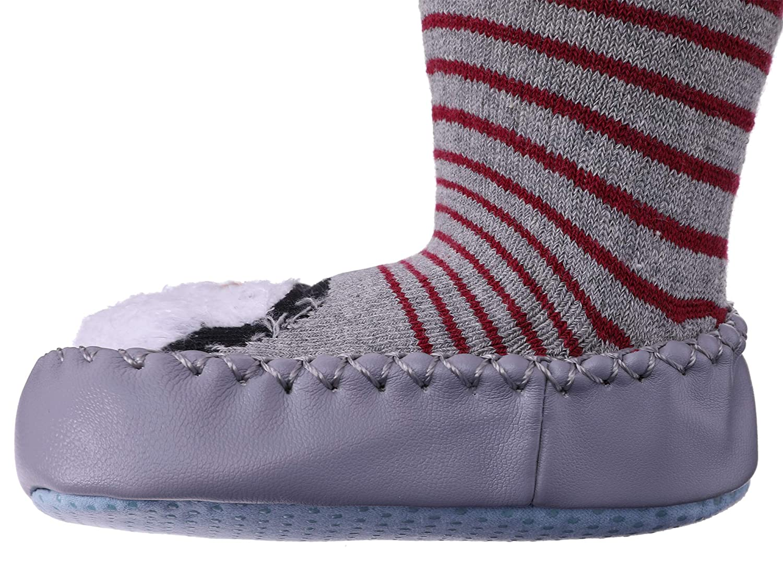 TRUEHAN Baby Socks Newborn Toddler Infant Baby Girls Boys Cartoon Animal Fuzzy Slipper Shoes Gift Idea