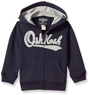 1a24252a6c Osh Kosh B gosh Boys  Toddler Full Zip Logo Hoodie Solid Navy 2T
