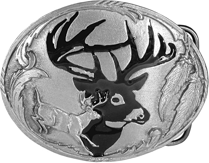 Novelty Vintage Western Deer Hunting Belt Buckle Metal Animal Elk Unique