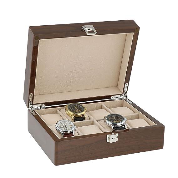 Lacado Nogal Reloj Coleccionista Caja para 8 Relojes Pulsera by Aevitas