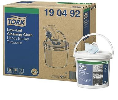 Tork 190492 Cubo práctico de paños de limpieza sin pelusa Premium / 1 capa/Paños