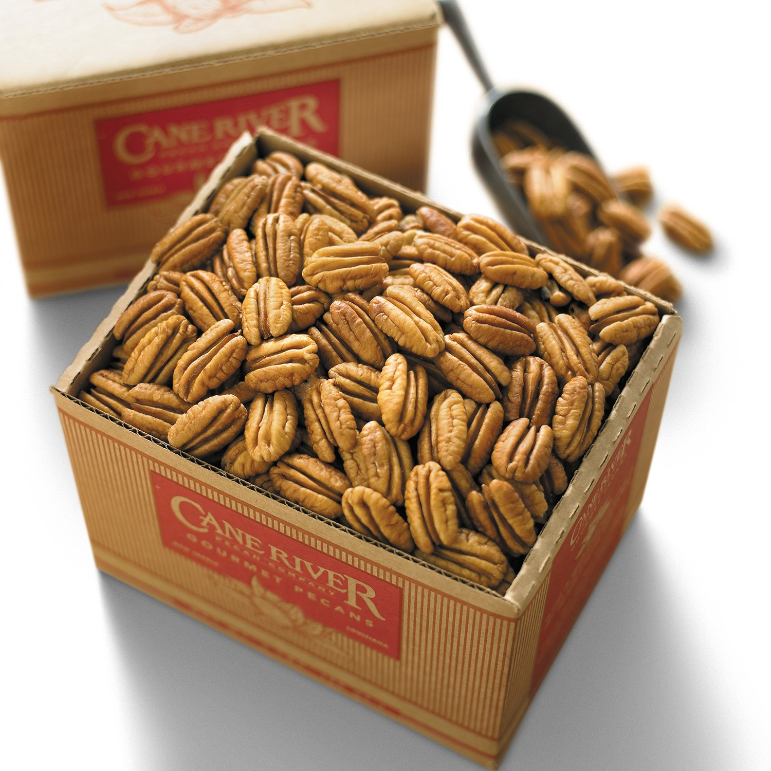 Mammoth Desireable Pecan Halves, 3 pound box - Cane River Pecan Co.