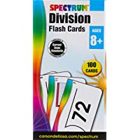Spectrum - Division Flash Cards - 100 Arithmetic Cards of Division Facts and Place Values with Bonus Game Card for 3rd…