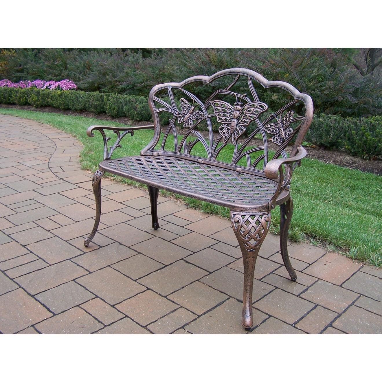 Amazon.com : Oakland Living Butterfly Cast Aluminum Loveseat, Antique  Bronze : Outdoor And Patio Furniture Sets : Garden U0026 Outdoor