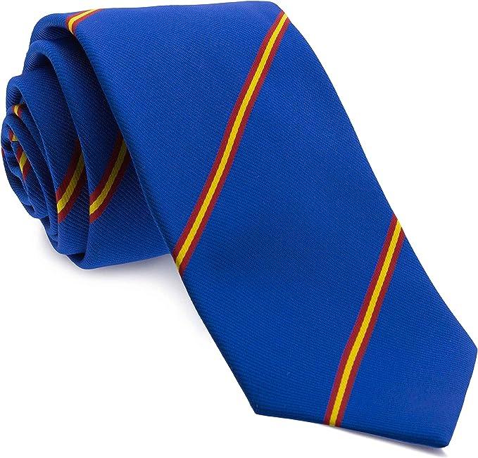 Cencibel Smart Casual Corbata Rayas España (Azul): Amazon.es: Ropa ...