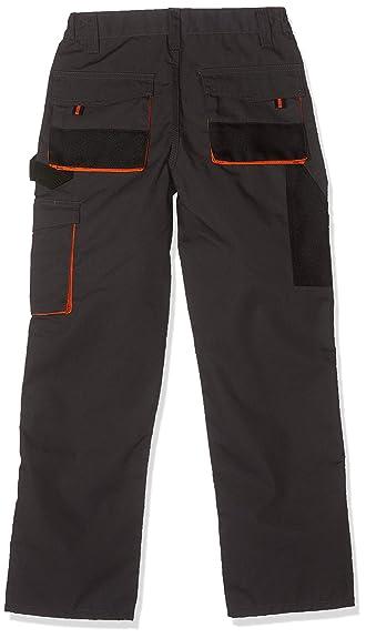 Kinderhose Arbeitshose Handwerker Hose Kinderarbeitshose  Grau Schwarz Gelb 158