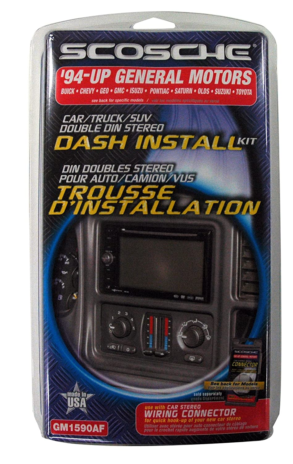 Scosche Dash Kit For 1992 Up General Motors Double Din Wiring Harness With Trim Ring Iso Car Electronics