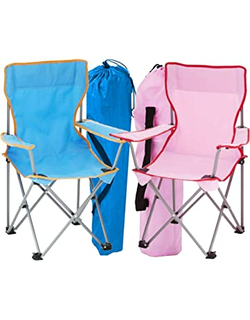 17c46c8b80 simpa 2 x Childrens Folding Camping Chairs - Avaibale in Pink