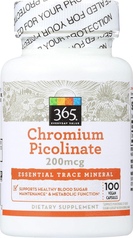 365 Everyday Value, Chromium Picolinate 200mcg, 100 ct