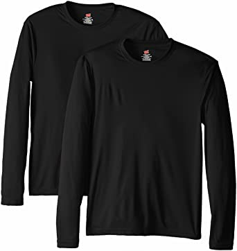 Hanes Men's Long Sleeve Cool DRI T-Shirt UPF 50-Plus: Amazon.ca ...