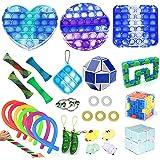 RURING 30pcs Fidget Toys Sensory Fidget Toys Set Fidget Toys Anti-Anxiety Tools and Special Toys Fidget Toys Relieves…