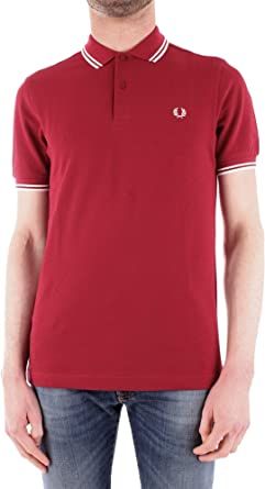 Fred Perry Twin Tipped Shirt Claret, Polo