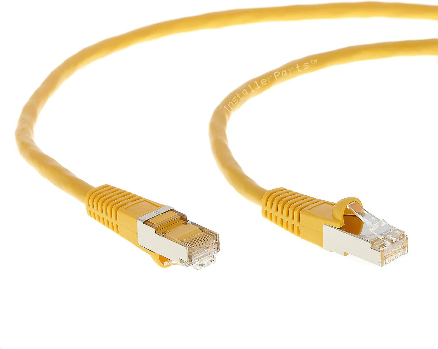 Ethernet Cable CAT5E Cable Shielded 350MHZ Professional Series 1Gigabit//Sec Network//Internet Cable FTP Booted 200 FT Yellow 5 Pack InstallerParts