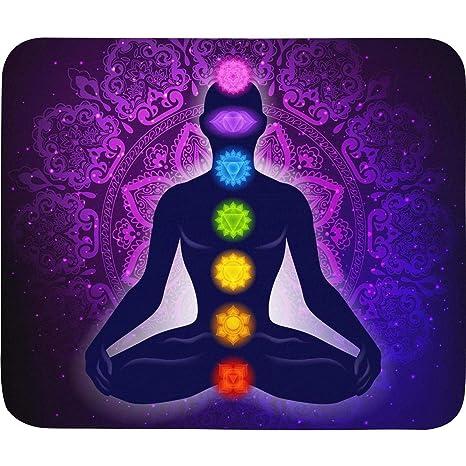 Amazon.com : Meditating Woman Lotus Pose Yoga Game Office ...