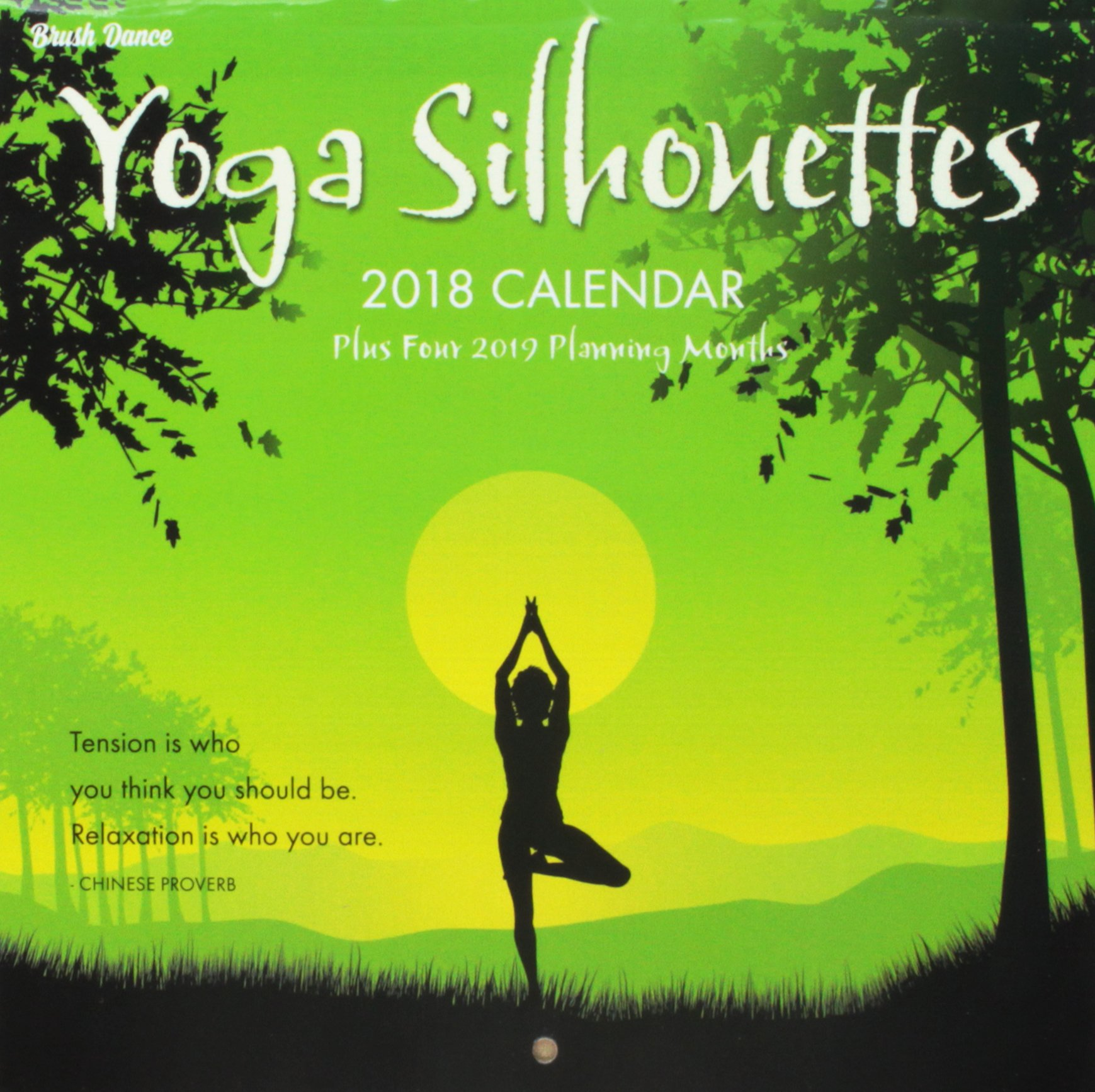 Yoga Silhouettes 2018 Calendar: Amazon.es: Inc. Brush Dance ...
